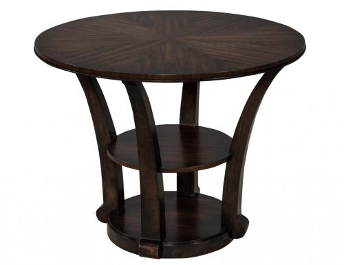 Sunburst Mahogany Foyer Occasional Table