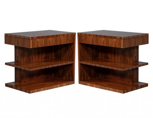 Pair of Art Deco Inspired Hollywood Nightstands by Ralph Lauren