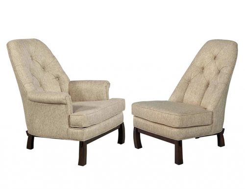 Set of Vintage Mid Century Modern His and Hers Lounge Parlor Chairs