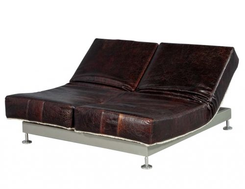 Original Mid Century French Leather Daybed