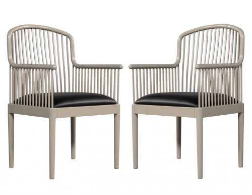 Pair of Mid Century Accent Arm Chairs Knoll Studio by Davis Allen