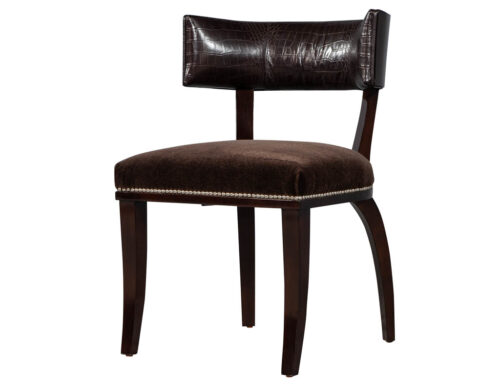 Leather Clivedon Side Chair by Ralph Lauren