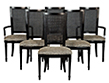 Louis XVI Style Cane Back Dining chairs set of 6
