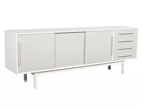 Mid Century Modern Lacquered Media Cabinet Sideboard