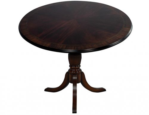 Flame Mahogany Round Duncan Phyfe Center Table