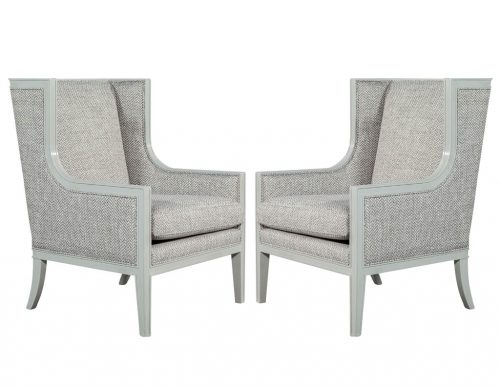 Pair of Custom Modern Wing Chairs by Carrocel