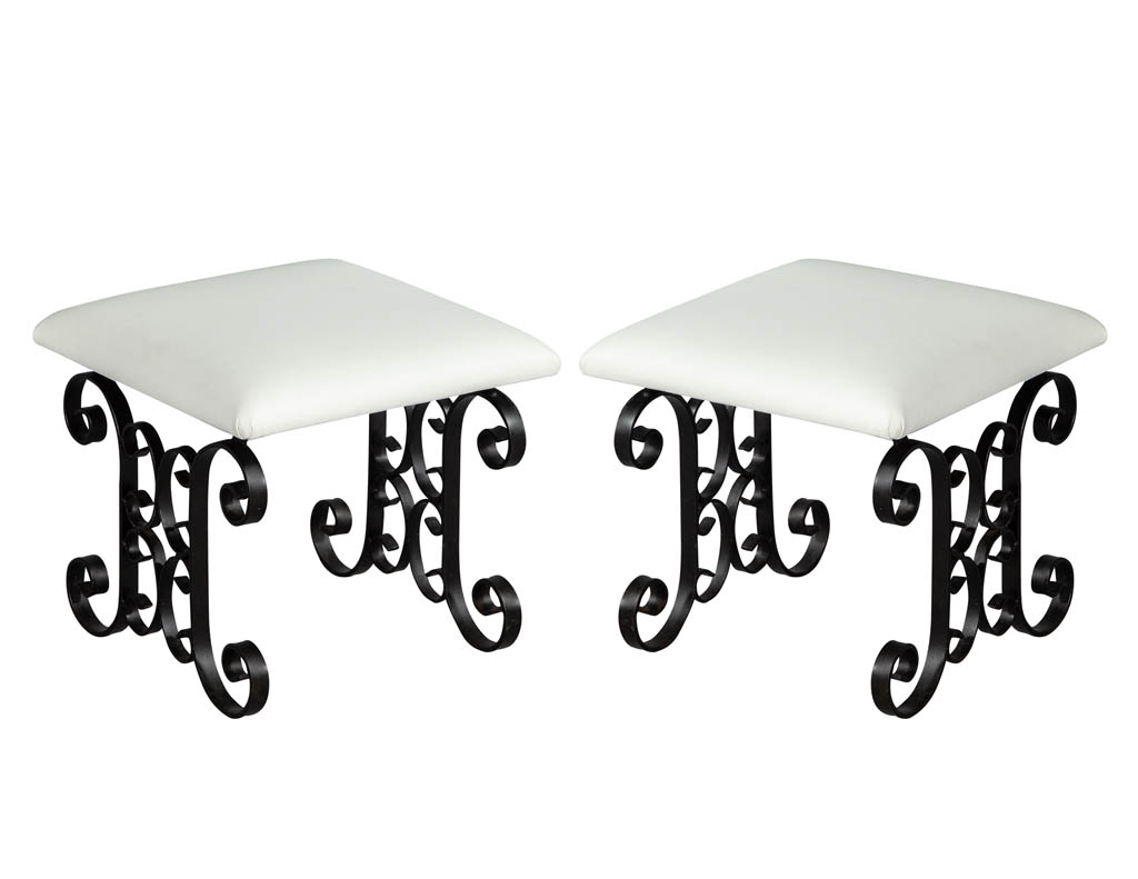 Pair-of-wrought-iron-leather-stools-LR-3160-001