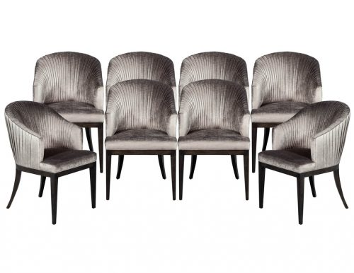 Set of 8 Carrocel Custom Plisada Dining Chairs