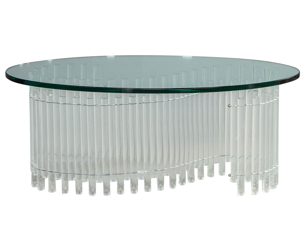 Vintage-Acrylic-Tambour-Style-Oval-Coffee-Table-CE-3170-001