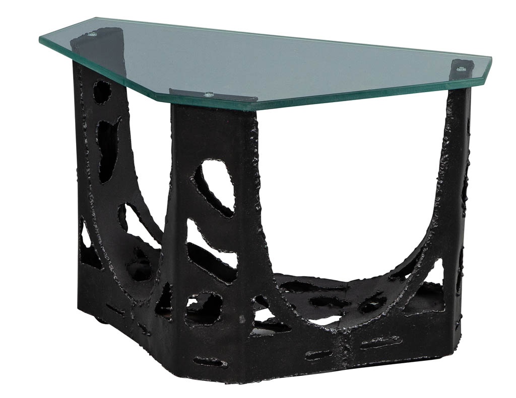 Vintage-original-brutalist-glass-top-end-table-CE-3173-001