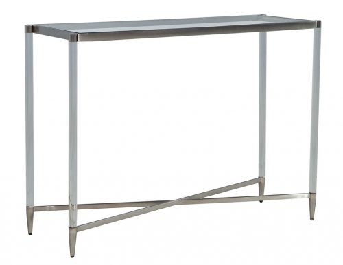 Glass Top Acrylic Console Table