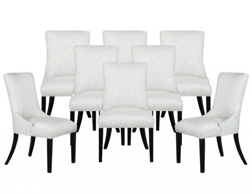 Set of 8 Carrocel Custom Opus Chairs in Textured Fabric