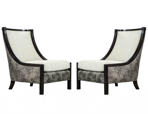 Pair of Custom Modern Lounge Chairs by Carrocel