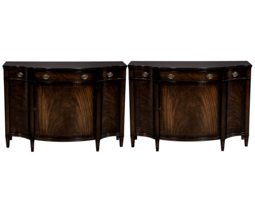 Pair of Flamed Mahogany Commode Chests