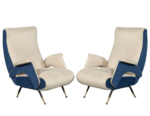 Pair of Mid-Century Modern Zanuso Style Lounge Chairs
