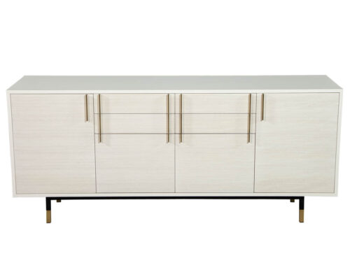 Custom Modern White Buffet Sideboard