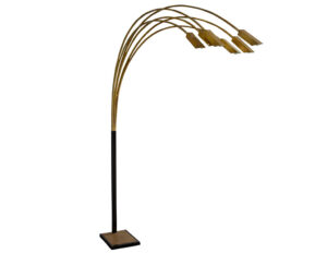 Outstanding Vintage Italian Brass Arc Floor Lamp