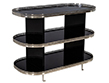 Custom Black Stainless Steel Bar Cart Trolley