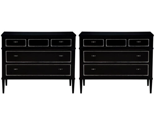 Carrocel Custom Black Lacquered Night Stand Chests