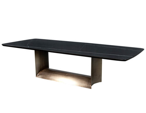 Custom Cannon Modern Porcelain Top Dining Table