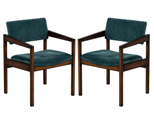 Pair of Mid Century Modern Accent Arm Chairs