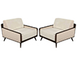 Pair of Mid-Century Modern Inspired Lounge Chairs