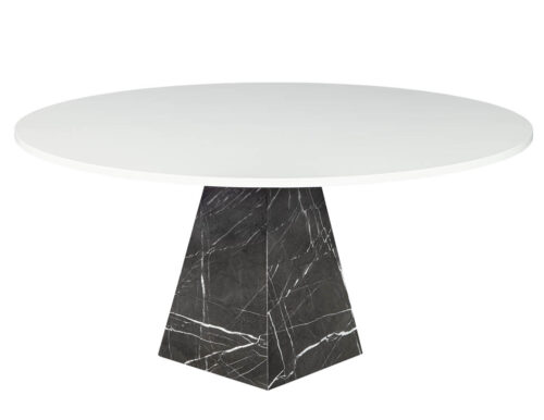 Modern Round Marble Top Dining Table