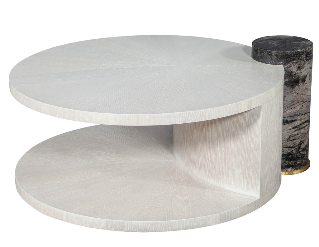 CE-3226-Modern-Sunburst-Oak-Round-Cocktail-Table-in-White-002