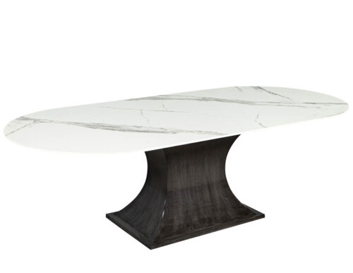 Carrocel Custom White Porcelain Dining Table