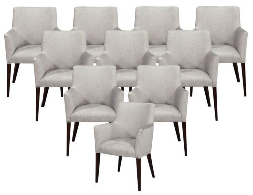 Set of 10 Relari Custom Modern Dining Chairs
