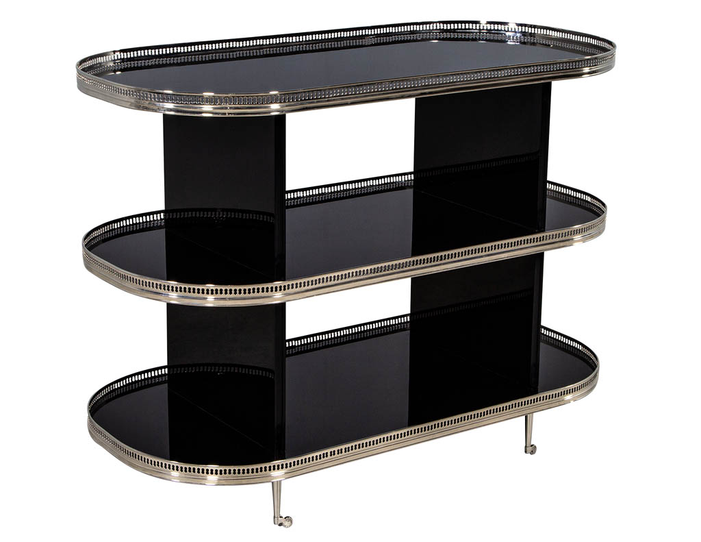 CE-3296-Black-Lacquer-Stainless-Steel-Bar-Cart-Trolley-001