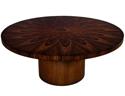 Custom Sunburst Modern Round Dining Table