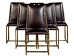 Set of 6 Brass Dining Chairs by Mastercraft