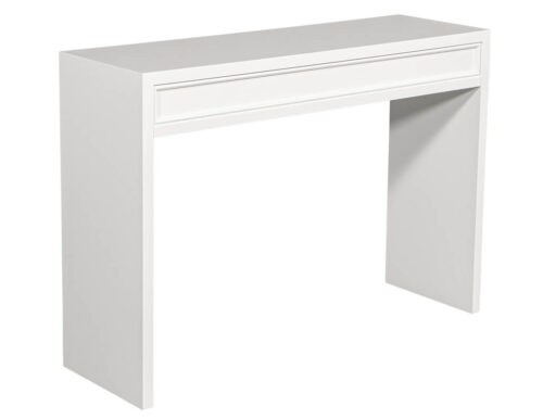 Custom Modern White Console Table