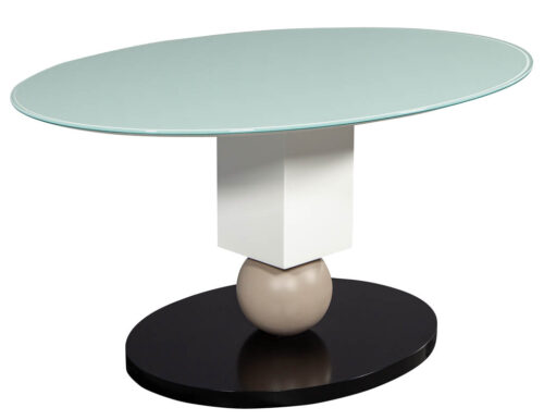 Custom Glass Top Modern Dining Table