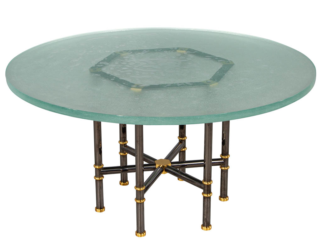 DS-5156-Custom-Designer-Textured-Ice-Glass-Top-Modern-Round-Dining-Table-003