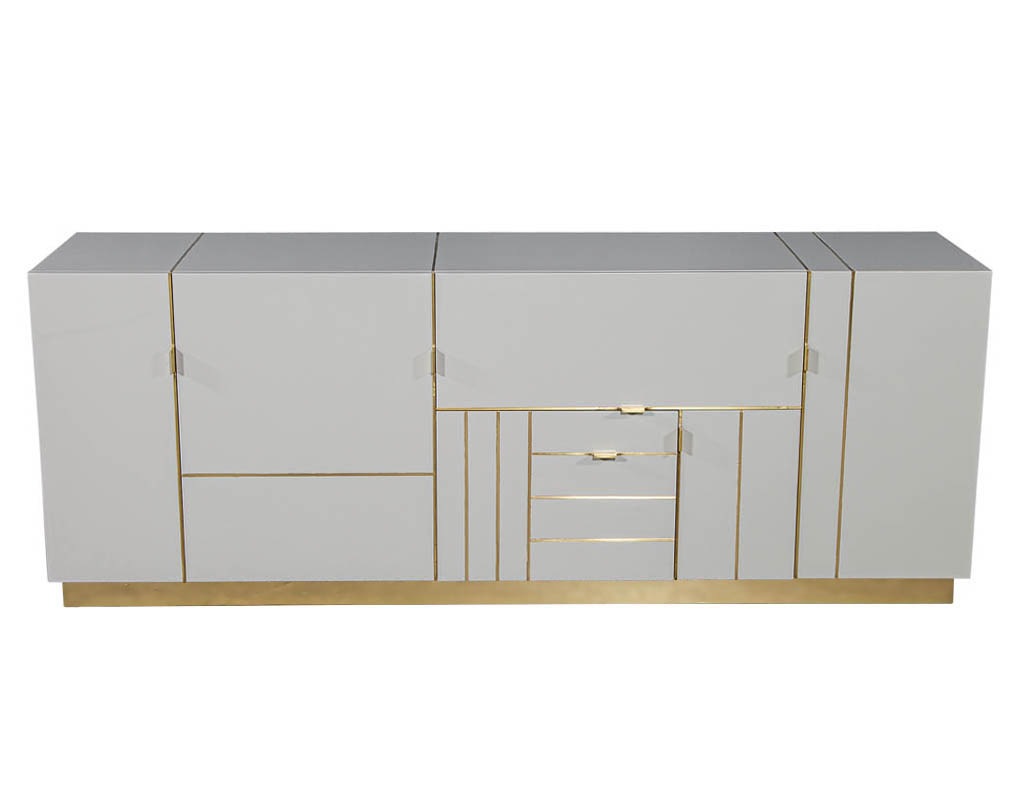 B-2068-Modern-Lacquered-Sideboard-Credenza-Brass-Details-001