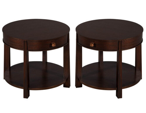 Pair of Baker Furniture Barbara Barry Ranch Lamp Tables
