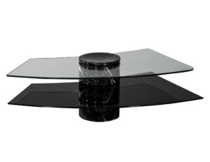 Vintage Italian Mid-Century Modern Stone and Glass Cocktail Coffee Table