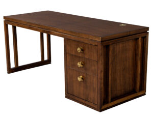 Modern Walnut Office Desk by Baker Furniture