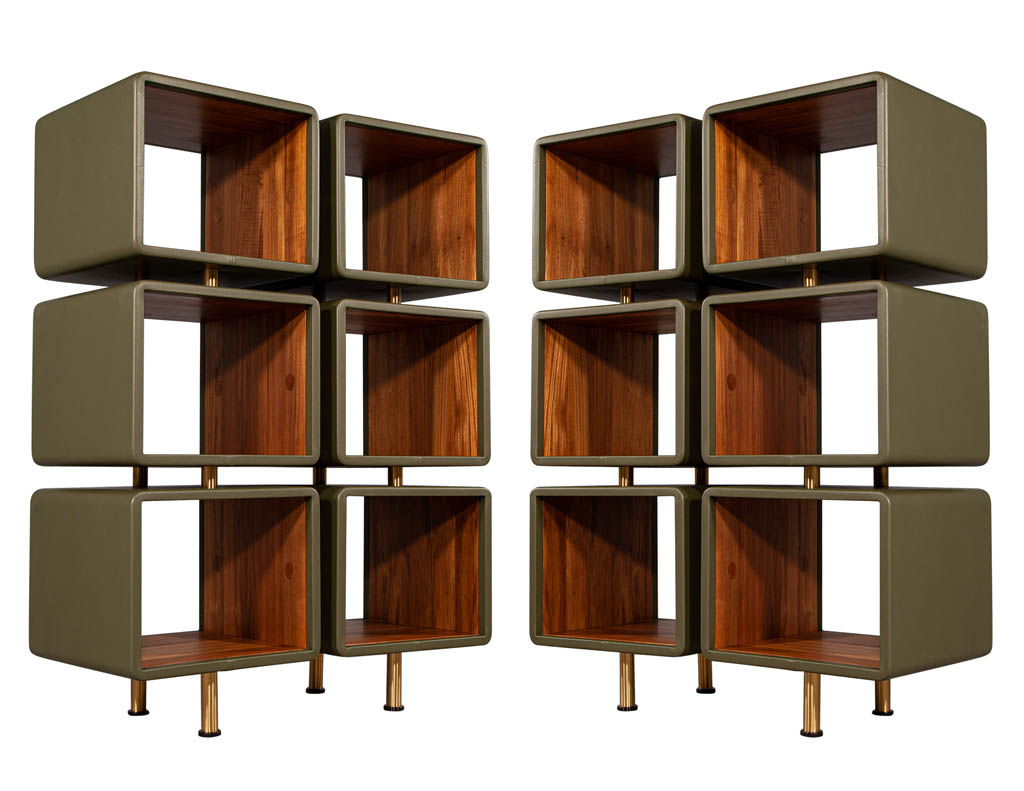 C-3096-Modern-Leather-Clad-Jetson-Bookcases-001