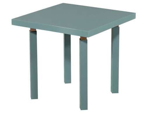 Modern Teal and Brass End Table